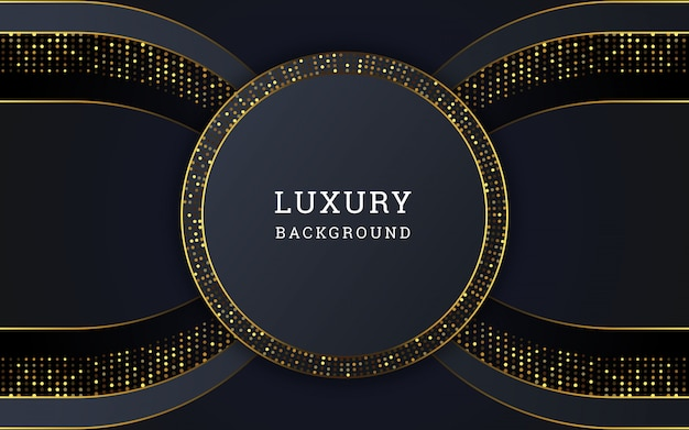 Abstrakter luxushintergrund mit goldenem funkeln