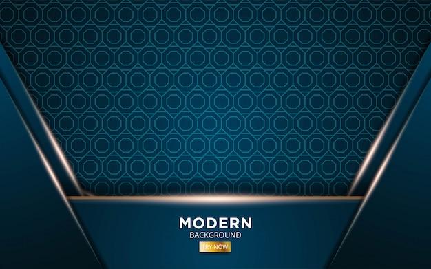 Abstrakter luxushintergrund mit goldenen lichtlinien im geometrietexturmuster