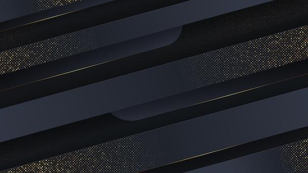 Abstrakter luxushintergrund mit goldschnitt.