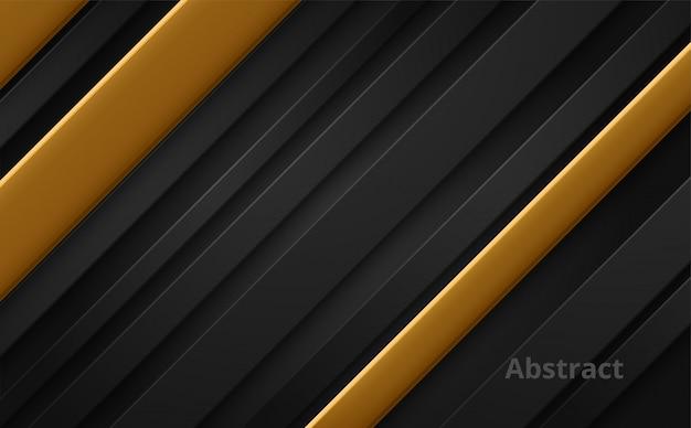Abstrakter luxushintergrund. schwarz und gold.