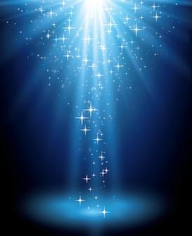 Abstrakter magischer blauer lichthintergrund