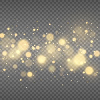 Abstrakter magischer bokeh-lichteffekthintergrund funkelnde magische staubpartikel