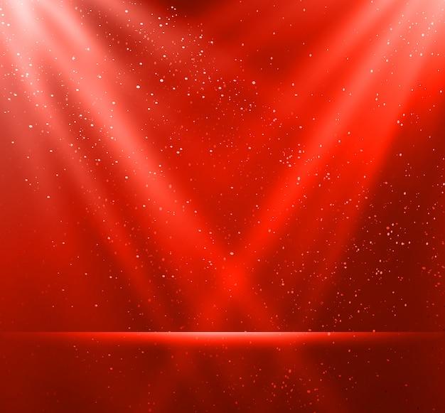 Abstrakter magischer hintergrund der roten leuchte