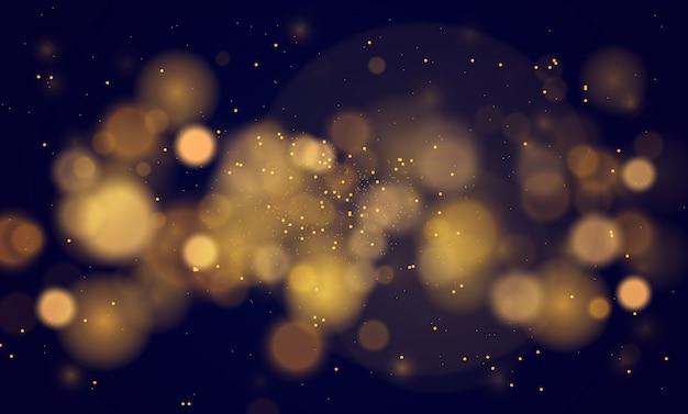 Abstrakter magischer hintergrund mit bokeh lichteffekt