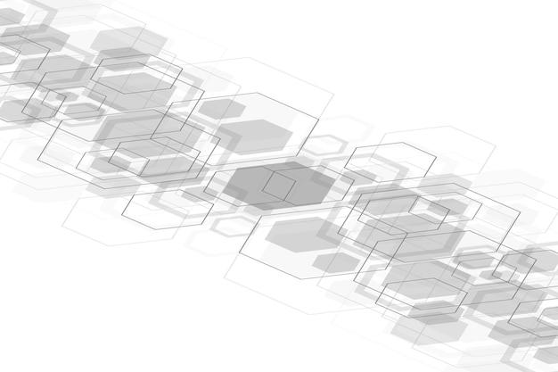Abstrakter medizinischer hintergrund. dna-forschung. hexagonales strukturmolekül und kommunikationshintergrund für medizin, wissenschaft, technologie. vektor-illustration.