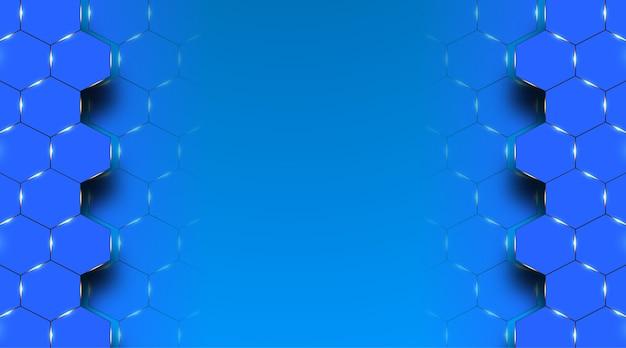 Abstrakter medizinischer hintergrundentwurf mit blauem sechseck