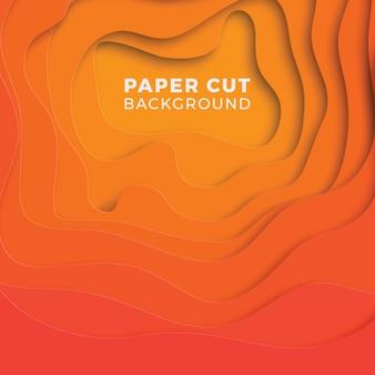 Abstrakter mehrfarbenhintergrund mit realistischen papierschnittschichten