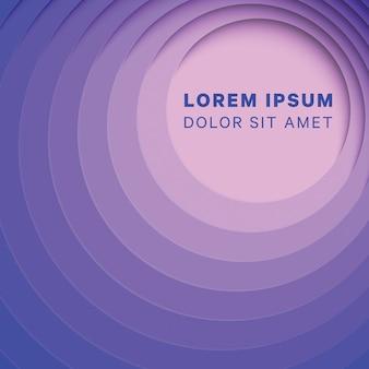Abstrakter mehrfarbenhintergrund mit runden papierschnittschichten