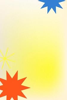 Abstrakter memphis gelber hintergrundvektorsteigung mit geometrischen formen