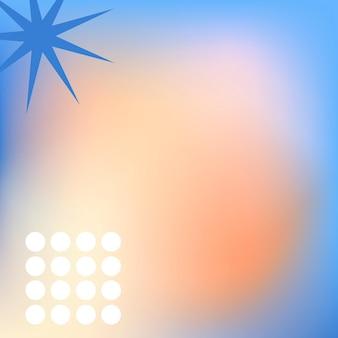 Abstrakter memphis-orangefarbener hintergrundvektor mit geometrischen formen