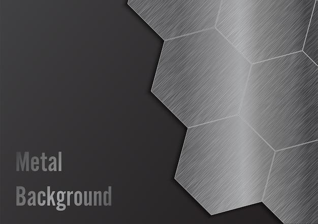 Abstrakter metallhintergrund. illustrator vektor.