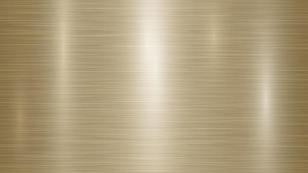 Abstrakter metallhintergrund mit blendungen in goldenen farben