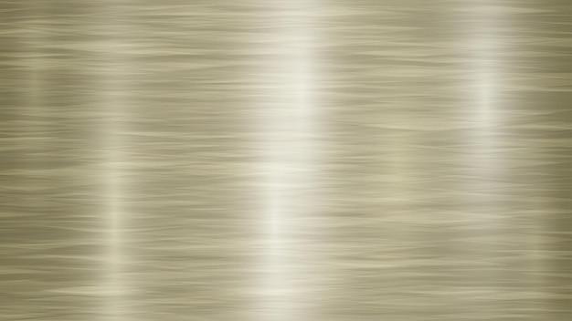 Abstrakter metallhintergrund mit blendungen in goldenen und gelben farben