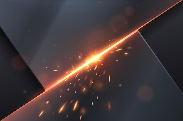 Abstrakter metallhintergrund mit lichteffekt.