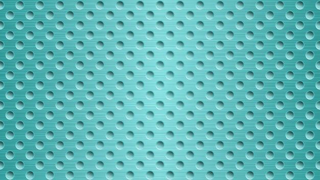 Abstrakter metallhintergrund mit löchern in hellblauen farben
