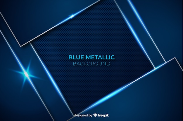 Abstrakter metallischer blauer dekorativer hintergrund