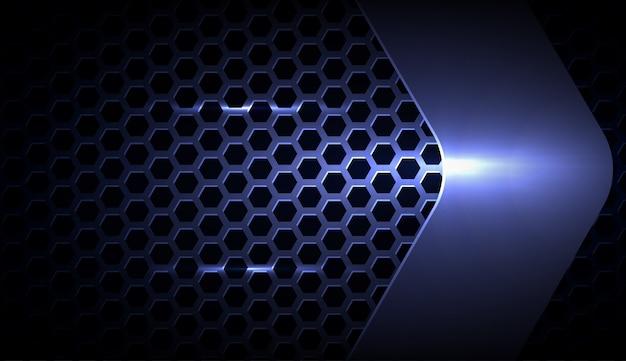 Abstrakter metallischer blauer geometrischer rahmensporthintergrund