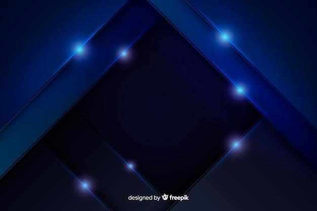 Abstrakter metallischer blauer hintergrund