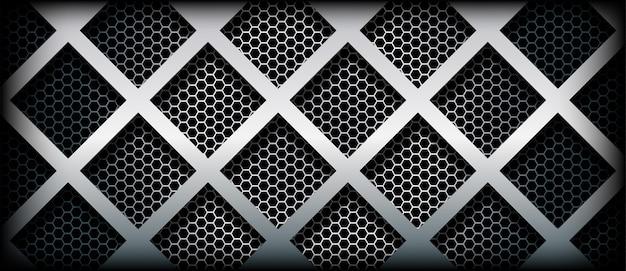 Abstrakter metallischer hintergrund mit geometrischer form