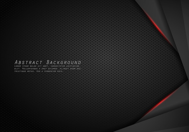 Abstrakter metallischer moderner roter schwarzer rahmendesigninnovationskonzept-planhintergrund.