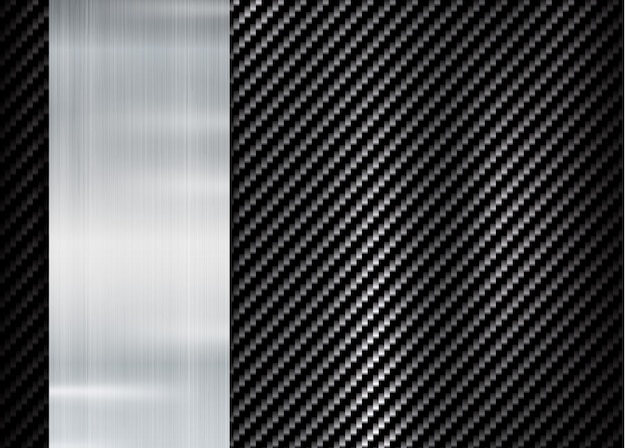 Abstrakter metallischer rahmen auf kohlenstoff-kevlar-beschaffenheit