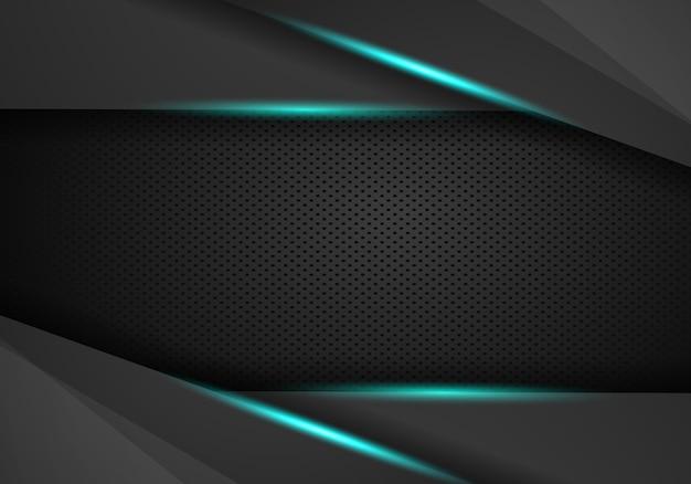 Abstrakter metallischer rahmenplan des blauen schwarzen
