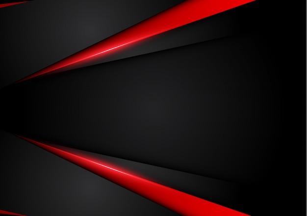 Abstrakter metallischer roter schwarzer hintergrund mit kontraststreifen. abstrakte vektorgraphikbroschürendesign