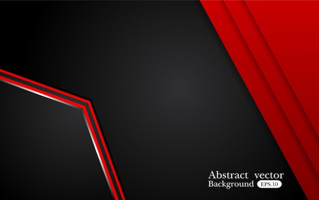 Abstrakter metallischer roter schwarzer hintergrund mit kontraststreifen