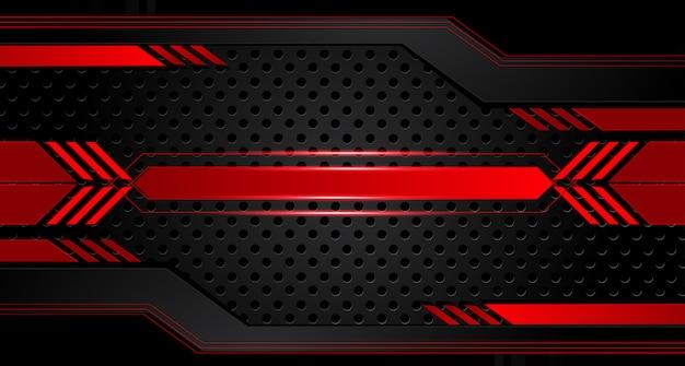 Abstrakter metallischer roter schwarzer rahmenplanentwurf