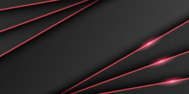 Abstrakter metallischer schwarzer rahmen dunkler minimaler hintergrund dreieckige überlappungsschicht mit heller linie