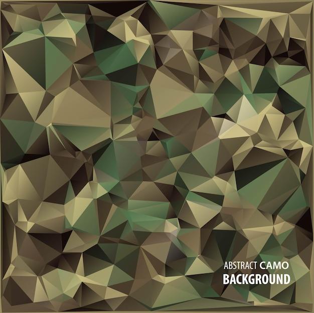 Abstrakter militärischer tarnhintergrund aus geometrischen dreiecken formen camo