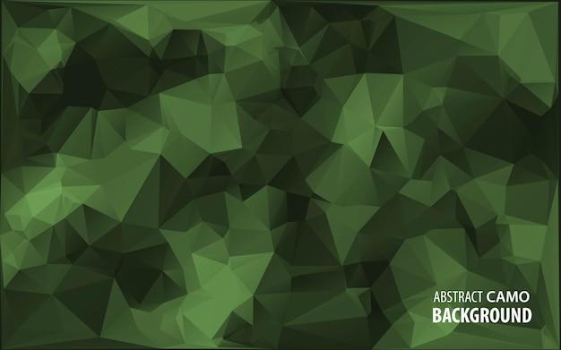 Abstrakter militärischer tarnhintergrund aus geometrischen dreiecksformen. illustration.