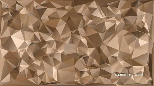 Abstrakter militärischer tarnhintergrund aus geometrischen dreiecksformen.