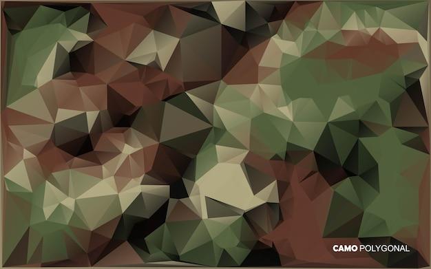 Abstrakter militärischer tarnhintergrund. geometrische dreiecke formen tarn