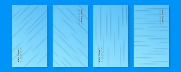 Abstrakter minimaler blauer hintergrund flüssiger farbverlauf. blauer moderner musterhintergrund der präsentation, abdeckung, fahnenschablone
