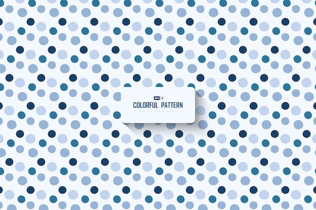 Abstrakter minimaler blauer punktmusterentwurfskunstwerkhintergrund.