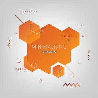 Abstrakter minimaler moderner hintergrund des hexagons.