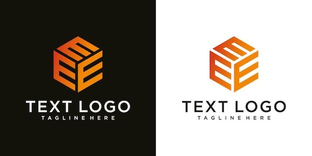 Abstrakter moderner anfangsbuchstabe e-zeichen luxus-logo-design-vorlage
