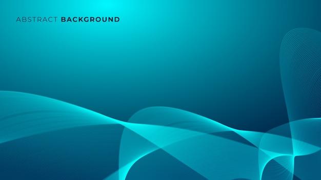 Abstrakter moderner blauer glühender hintergrund