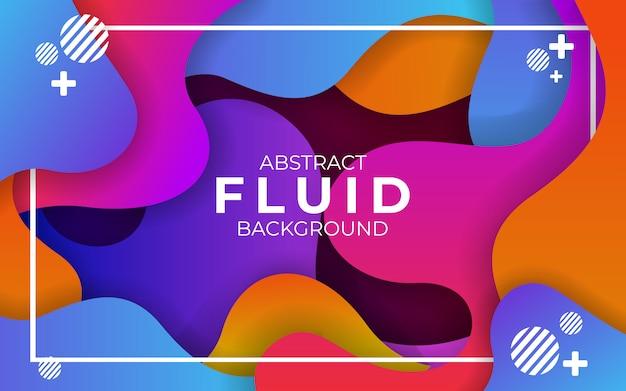 Abstrakter moderner bunter wellenförmiger flüssiger und flüssiger hintergrund