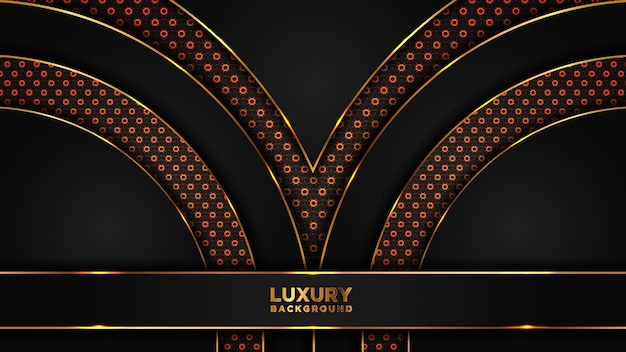 Abstrakter moderner dunkler luxushintergrund.