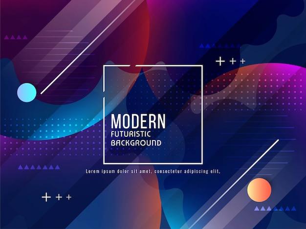 Abstrakter moderner futuristischer hintergrund