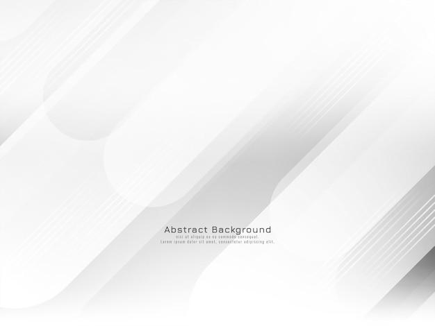 Abstrakter moderner geometrischer weißer streifenhintergrundvektor