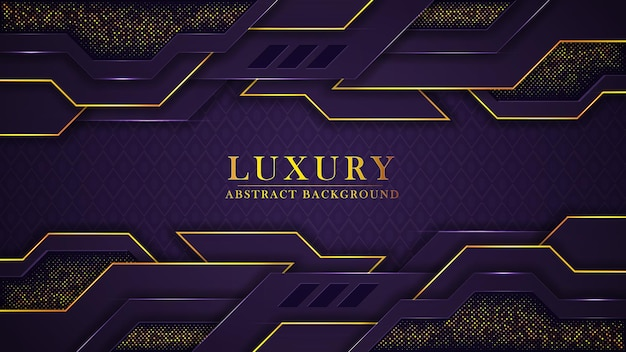 Abstrakter moderner goldener luxushintergrund mit muster und geometrischen formen