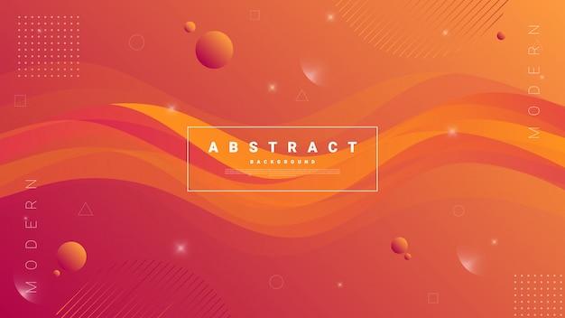 Abstrakter moderner grafischer hintergrund. dynamische farbige formen und wellen