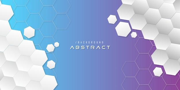 Abstrakter moderner hexagon-technologie-hintergrund