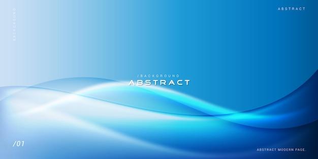 Abstrakter moderner hintergrund der blau-wellen-3d