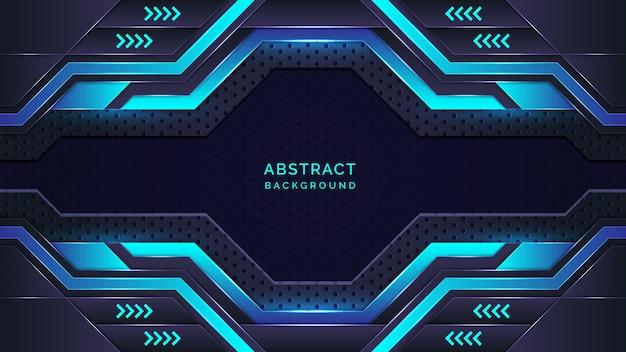 Abstrakter moderner hintergrund des cyan und des blauen gradienten