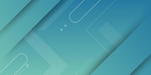 Abstrakter moderner hintergrund mit blauer verlaufender pastellfarbe und quadratischem formelement