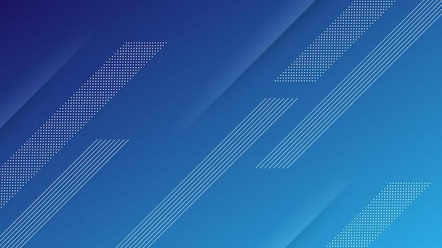 Abstrakter moderner hintergrund mit lebendigem blauem farbverlauf und memphis-element